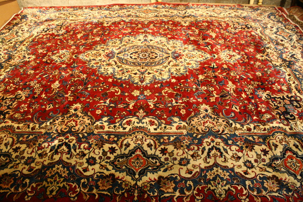 Mashed Hand Knotted Persian carpet