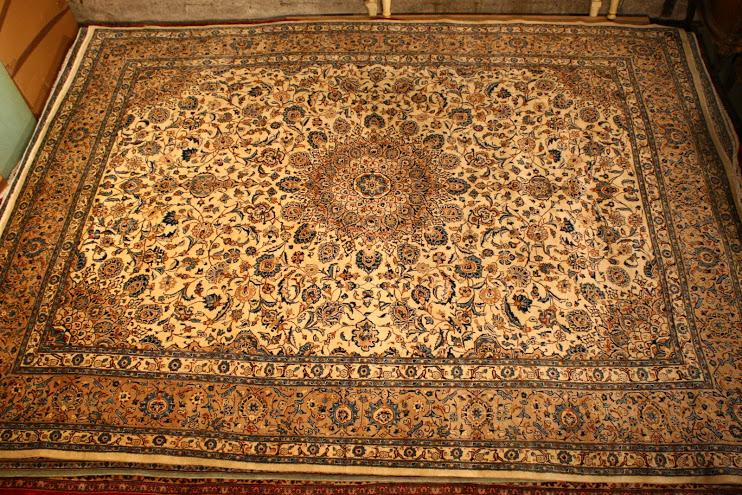 Royal  kashan hand knotted persian carpet Renaissance Antique Furniture and Lighting Warehouse Dublin Ireland