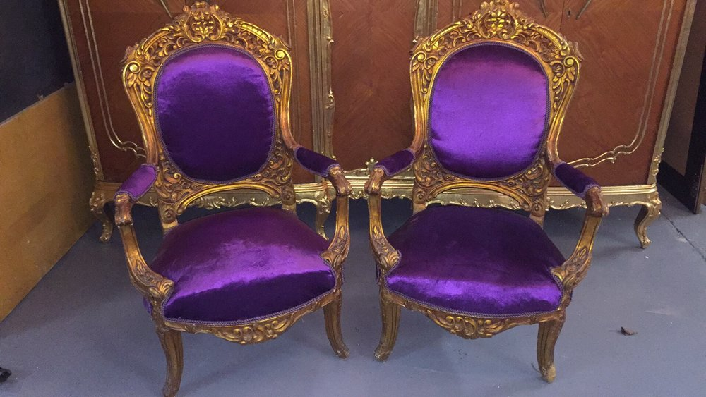 Renaissance Antique Furniture and Lighting Warehouse Dublin Ireland gilt sofa