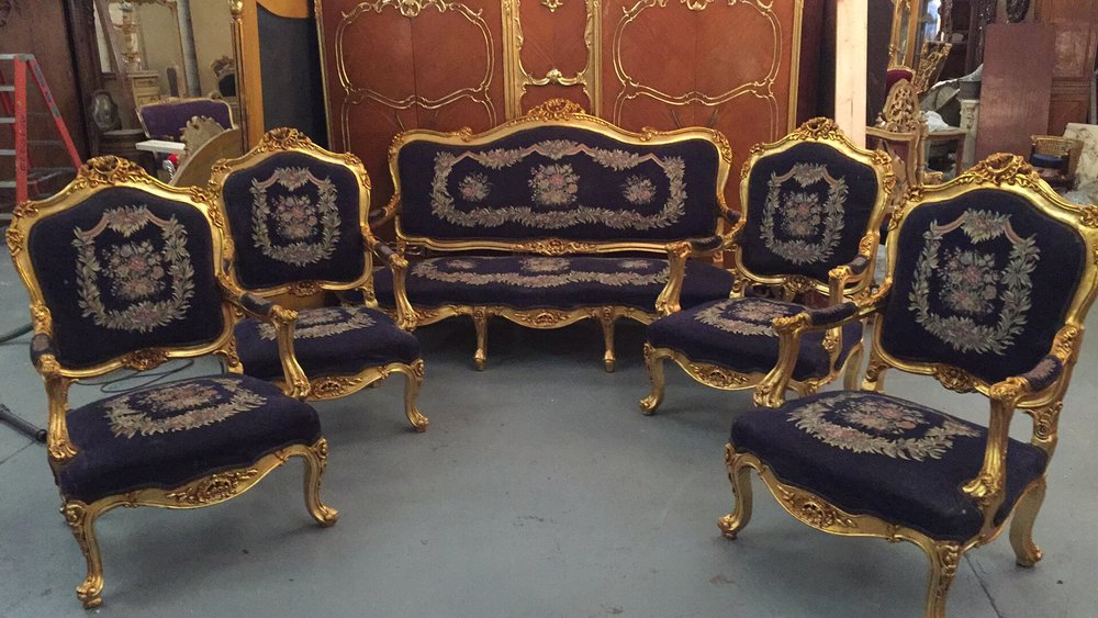 Renaissance Antique Furniture and Lighting Warehouse Dublin Ireland solon sofa gilt