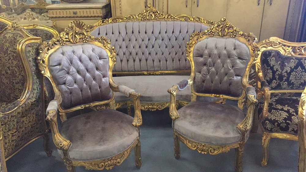Renaissance Antique Furniture and Lighting Warehouse Dublin Ireland salon suite