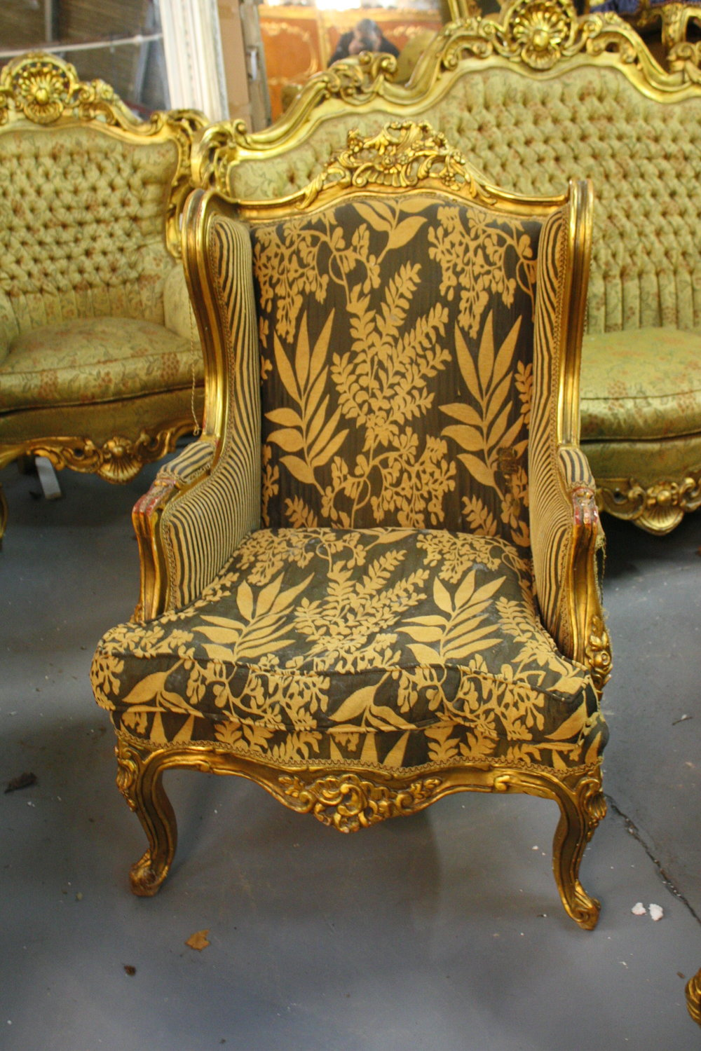Renaissance Antique Furniture and Lighting Warehouse Dublin Ireland chairs - Carved Wood Framed Chair — RENAISSANCE