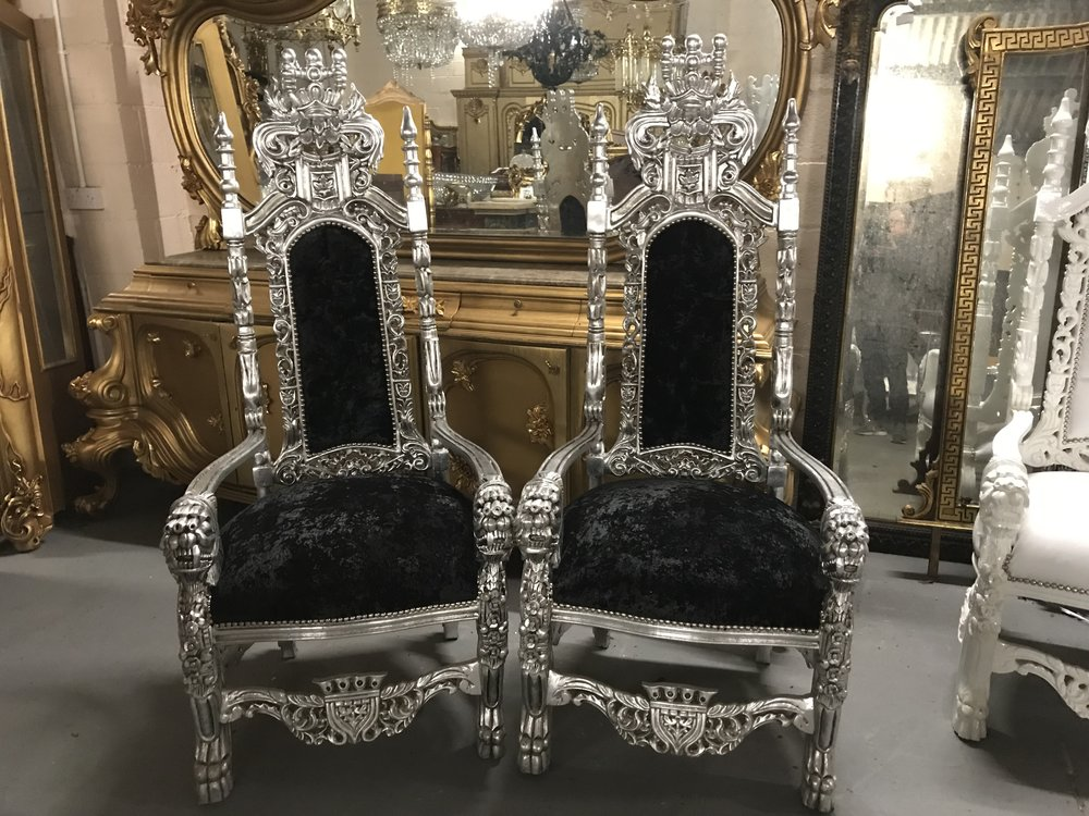 kings chairs Renaissance Antique Furniture and Lighting Warehouse Dublin Ireland
