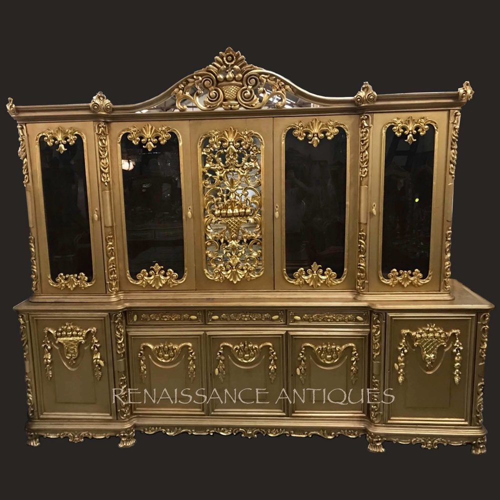 very large vitrine cabinet Renaissance Antique Furniture and Lighting Warehouse Dublin Ireland
