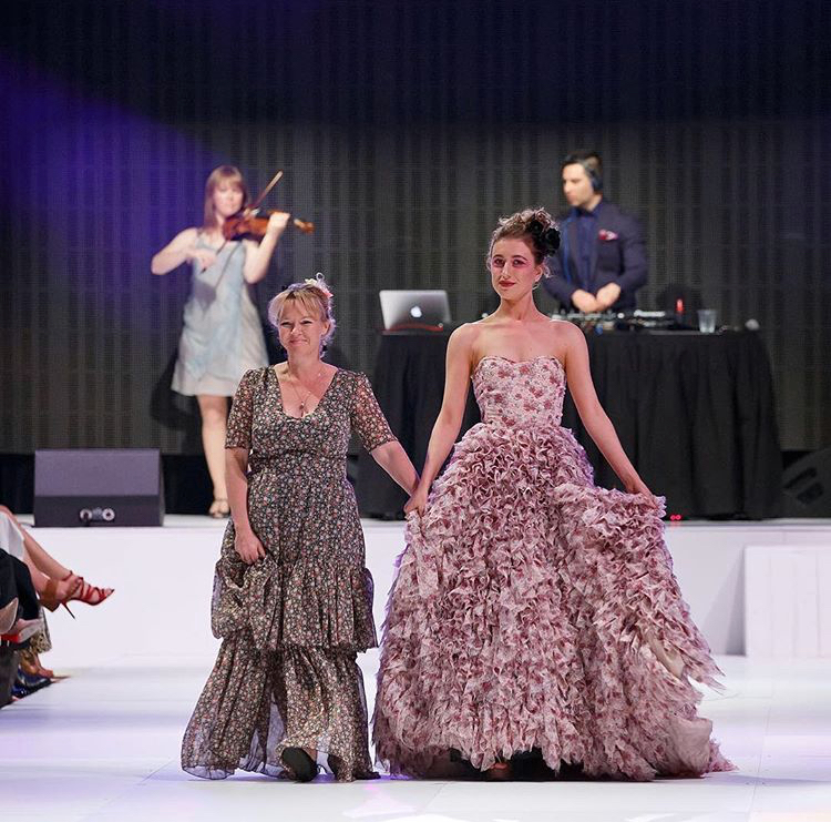 Megan Canning with Model at FASHFEST 2017