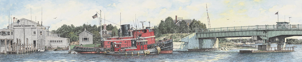 "CROSBY""S BOAT YARD     OSTERVILLE  CAPE COD            EDITION OF 500            29 IN x 6 IN           $250"