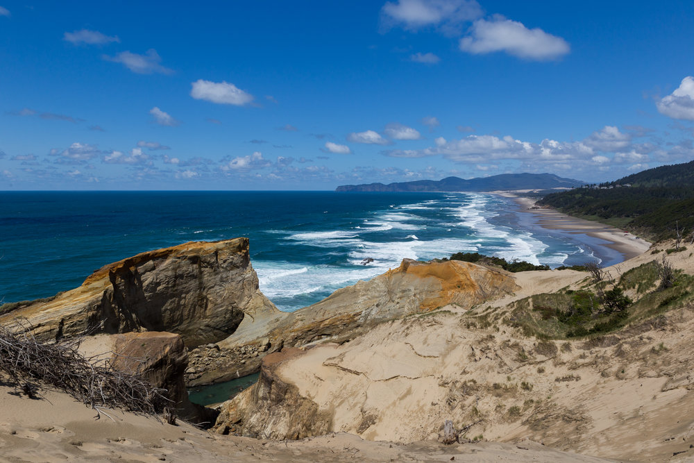 The view from the top of a 300ft sand dune, Cape Kiwanda, Oregon