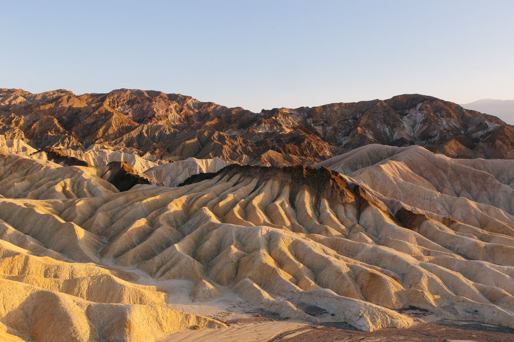 Zabriskie Point sunset, Death Valley National Park, California