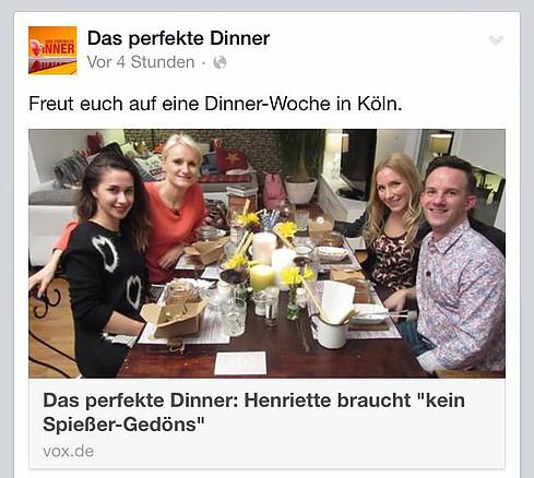 Perfektes Dinner Henriette