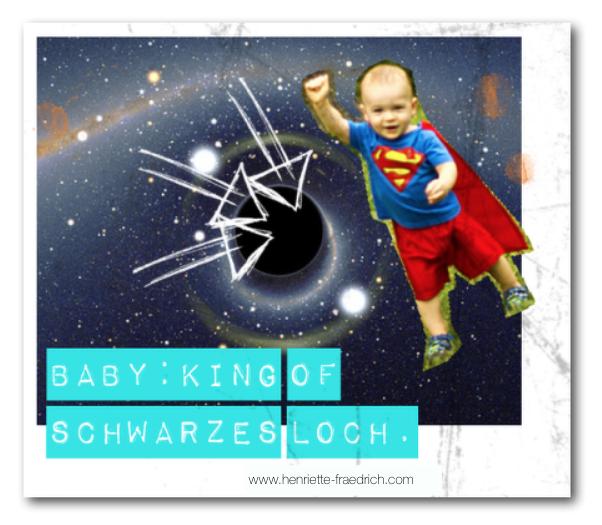Baby und schwarzes Loch