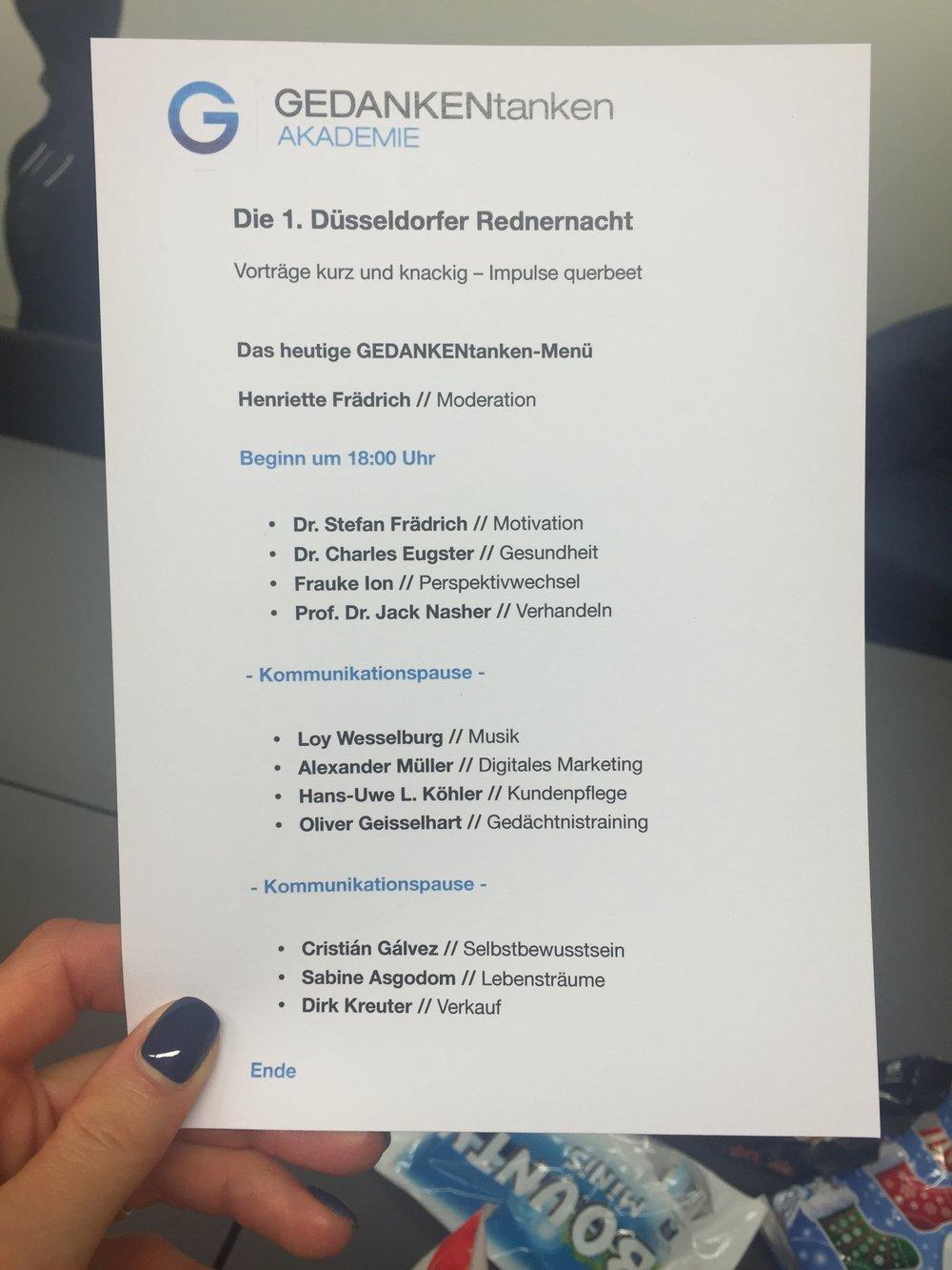 Henriette Frädrich Moderation Düsseldorfer Rednernacht