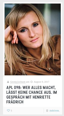 Henriette Frädrich Podcast