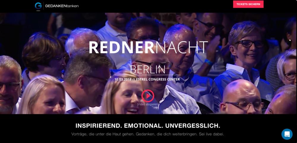 Berliner Rednernacht GEDANKENtanken
