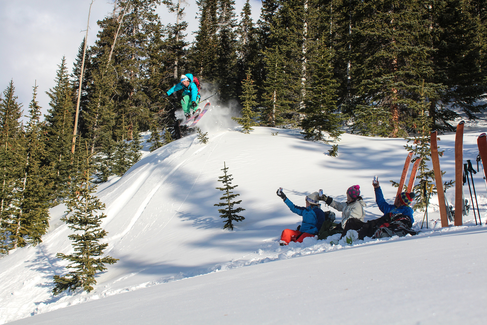 The Snow Shed crew in the backcountry. Click to learn more about Snow Shed.