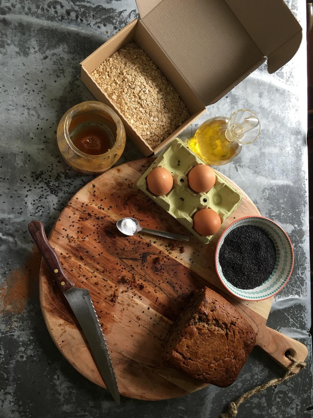 Ingredientes para el Banana Bread