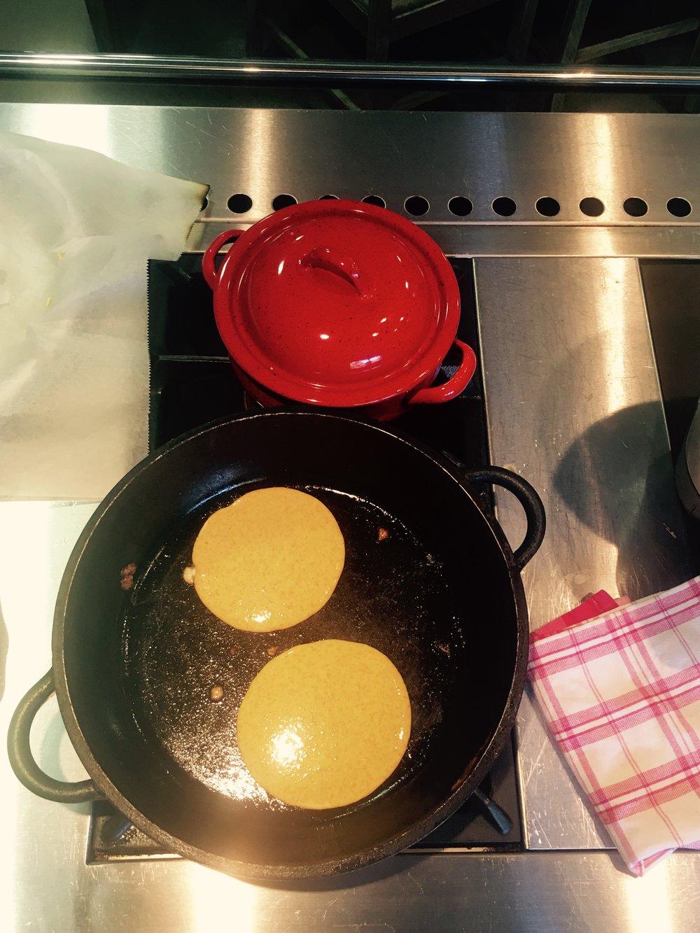 Cocinado mis tortitas de calabaza