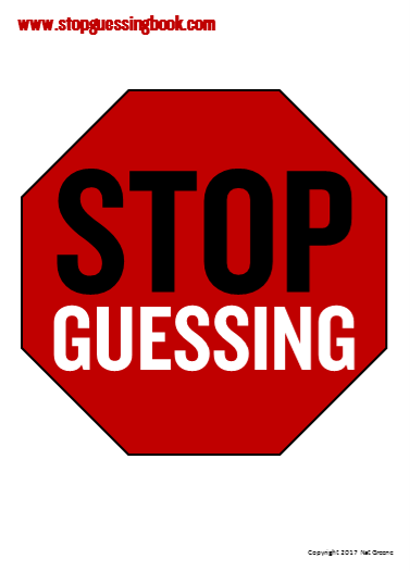 Stop Guessing Pocket Card - Front