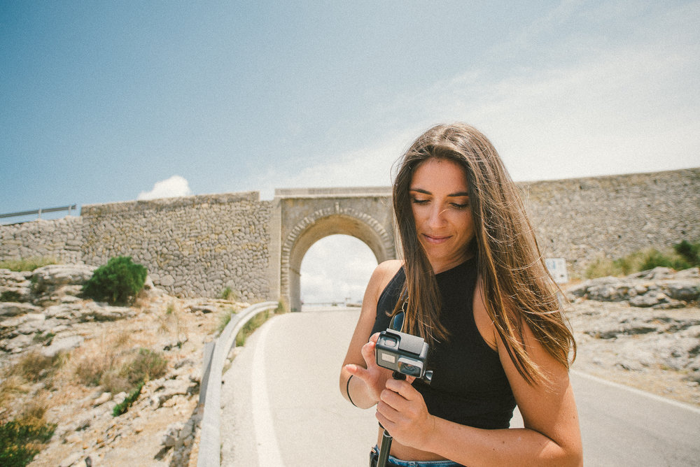 Never underestimate the power of a GoPro! Easy to carry with you everywhere.