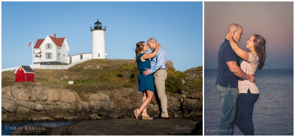 Engagement pictures at Nubble Light in York, Maine is a great coastal setting.