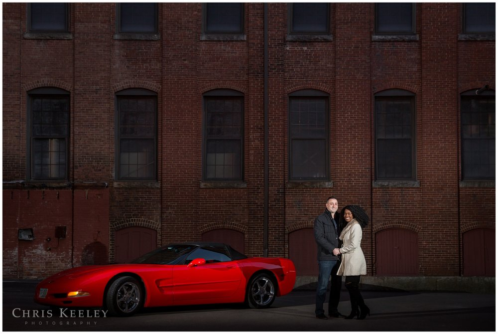 There's a bunch of great spots in downtown Dover for outdoor pictures. If cars or motorcycles are your thing, then outdoor pictures a must. Red Corvette, anyone?