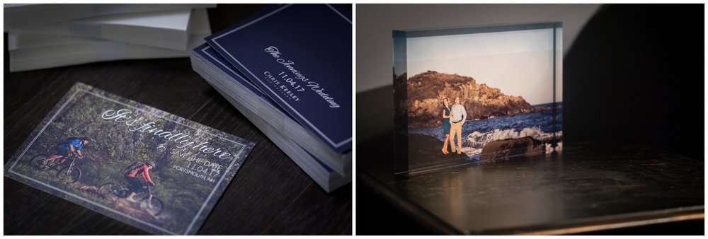Custom Save the Date cards and Acrylic Portrait Blocks are among the many popular products we offer to enjoy your photography.