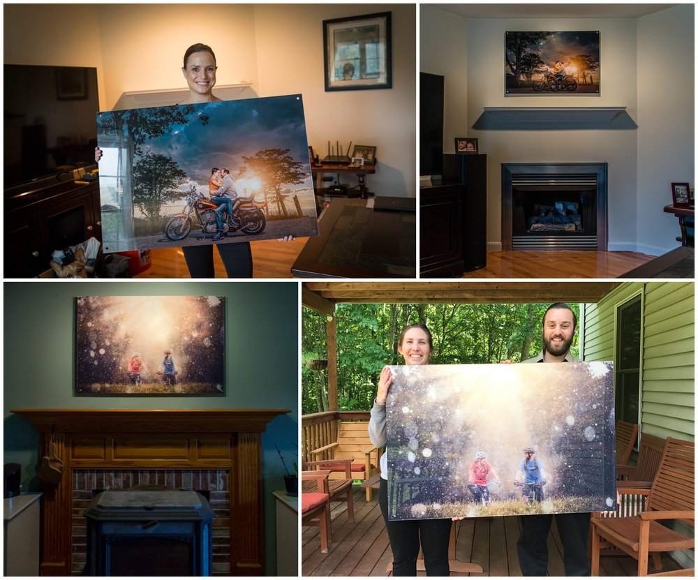 Most couples will select their signature portrait as artwork to decorate their home. We will help you to select the correct size, medium, and placement.