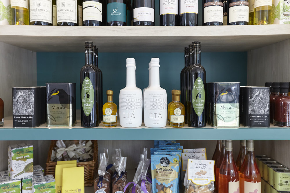 Shop - We have a small retail space containing an irresistible selection of well-sourced deli items and gifts. Here, you can pick up anything from a sourdough loaf, to a bottle of delicious wine or a candle for a friend.