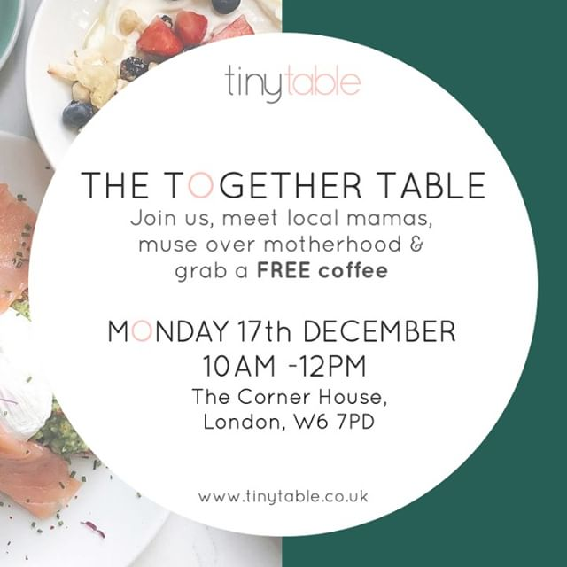 We enjoyed The Tiny Table get-together so much, we've got another one coming up. Put it in your diary... it's next Monday, between 10 and 12 and there's a free coffee for all attendees.  We are looking forward to it!