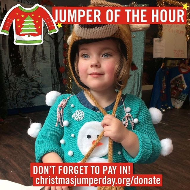 It's CHRISTMAS JUMPER DAY! Are you wearing yours? You can donate £2 to @savechildrenuk by texting the code TEAM31771 to 70050. We also have a donation box in the cafe. And anyone who is wearing a jumper gets a free choccy. Please do share your pics with us. 🙌🏻