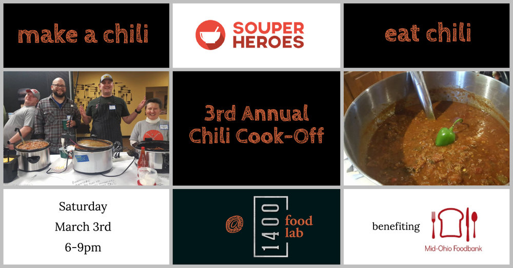 Souper Heroes 3rd Annual Chili Cook-Off:  Details Here