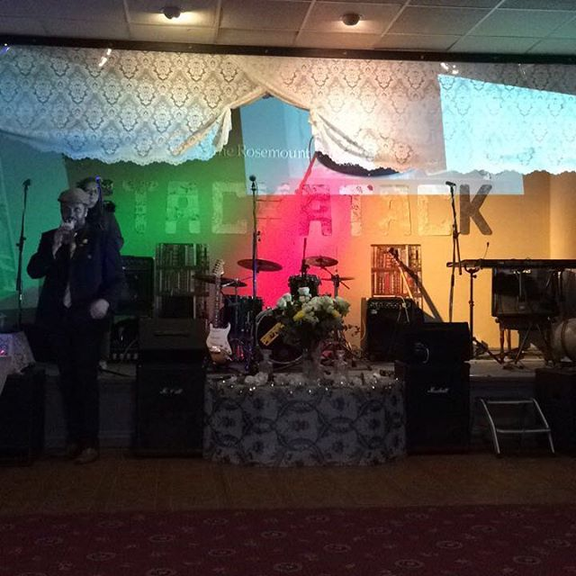 The stage at Stackattack at Rosemount! Come on down for a night of some awesome jams... #bands #stage #rocksteady #reggae #ska #soul #event #gig #bedrock #merch #guitar #singer #bass #drums #horns