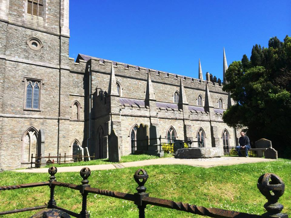 Saint Patrick's Cathedral in Downpatrick, Northern Ireland - reputed to be the location of Saint Patrick's grave.