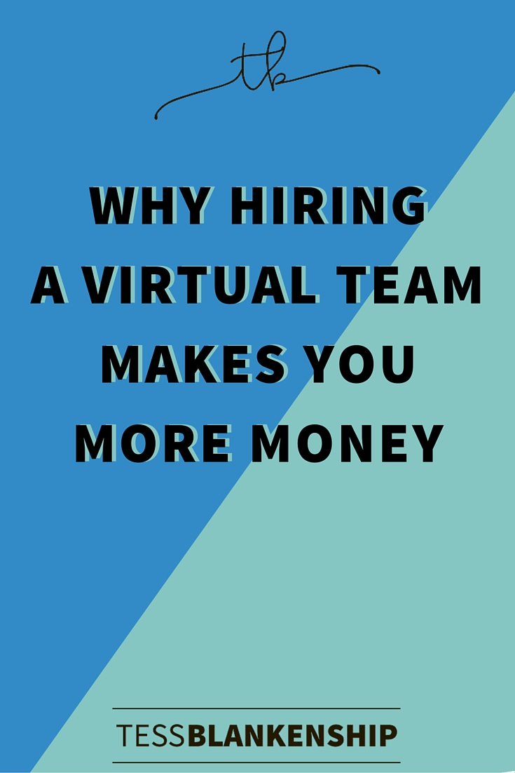 Why Hiring a virtual Team makes more money
