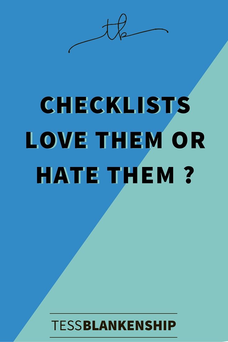 Checklists: a love-hate relationship?
