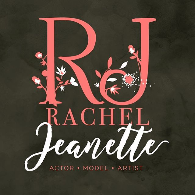Logo branding for #actress #model and #singer Rachael Jeanette - #artistic #graphicdesign #graphicart #art #design #logo #logos #logodesign #branding #brand #branddesign