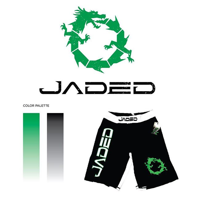 Jaded #mma #fightwear branding #logo #logodesign #logos #branding #branddesign #graphicdesign #art #artwork #graphicart #logoaday #design #designer #artist