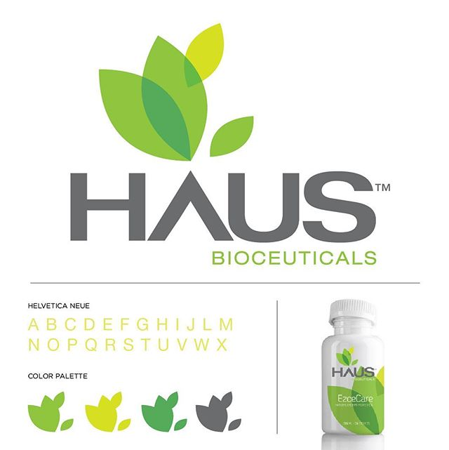 Haus Bioceuticals logo. #logo #logodesign #logos #branding #branddesign #graphicdesign #art #artwork #graphicart #logoaday