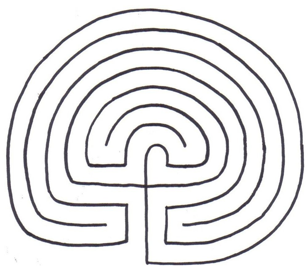 "The classic 7-circuit ""Cretan"" labyrinth"