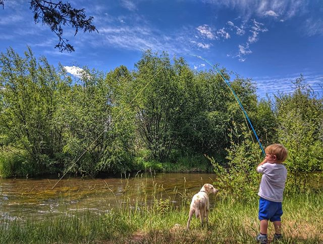 A boy, his dog and a drive for all things outdoors. His gravitation towards fly fishing is as natural as his cast and ability to hook fish but at the end of the day he doesnt care...he's just a happy kid loving life. @adventuringma #takeyourkidsfishing #nextgeneration #guide #happiness #flyfishing