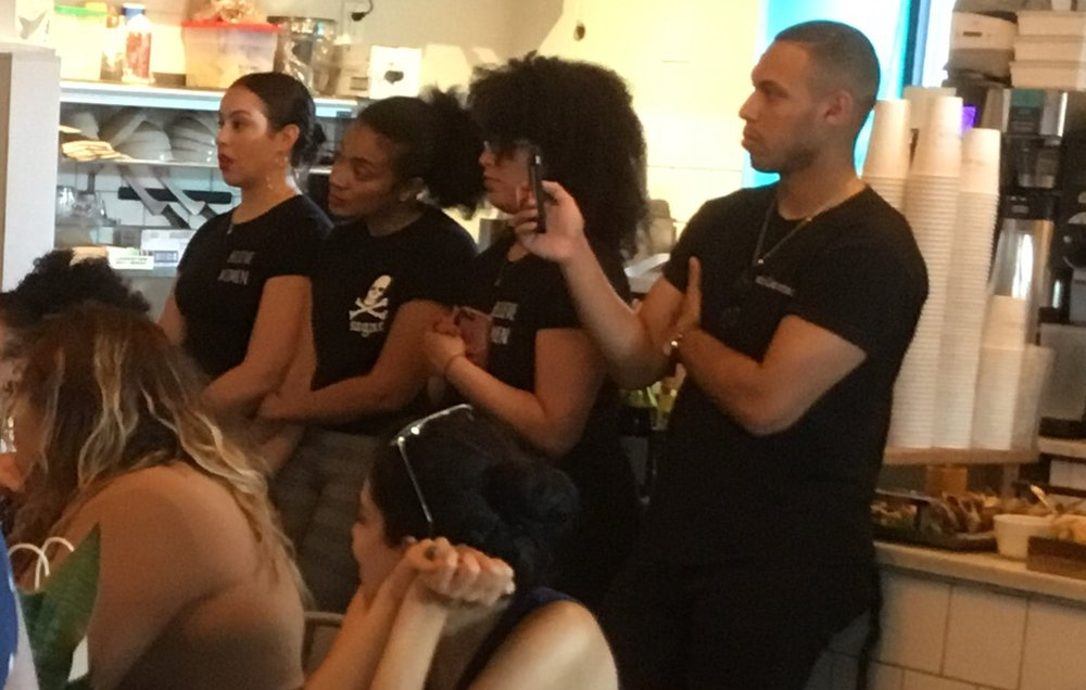 Autumn, pictured second to the right, at our Women of Color Entreprenuer Event at Little Skips in Bushwick, Brooklyn