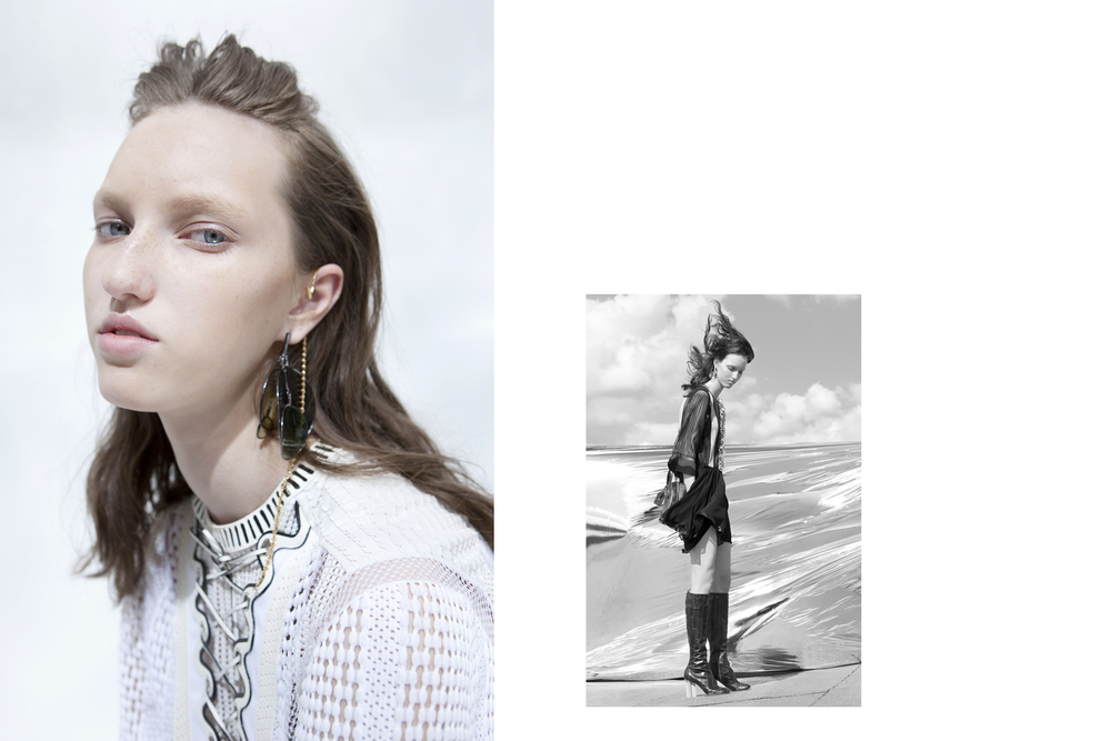 Liza Ostanina  for      Louis Vuitton x sleek magazine    Styling Réka Maria Probst Hair & MakeUp Tony Lundström