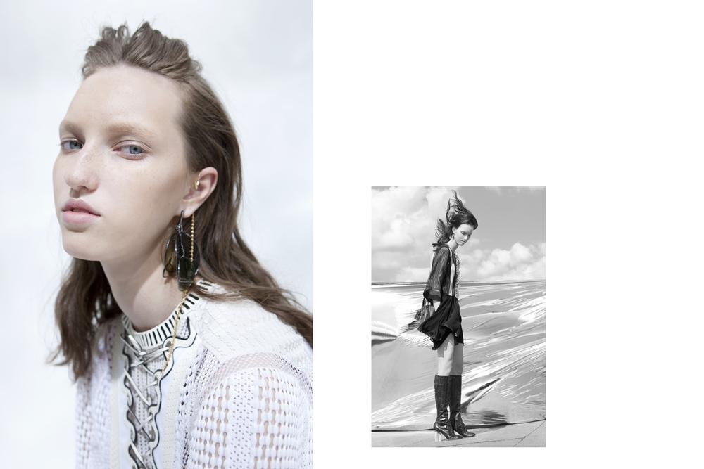 Liza Ostanina  for      Louis Vuitton x sleek magazine    Styling Réka Maria Probst Hair & MakeUp Tony Lundström