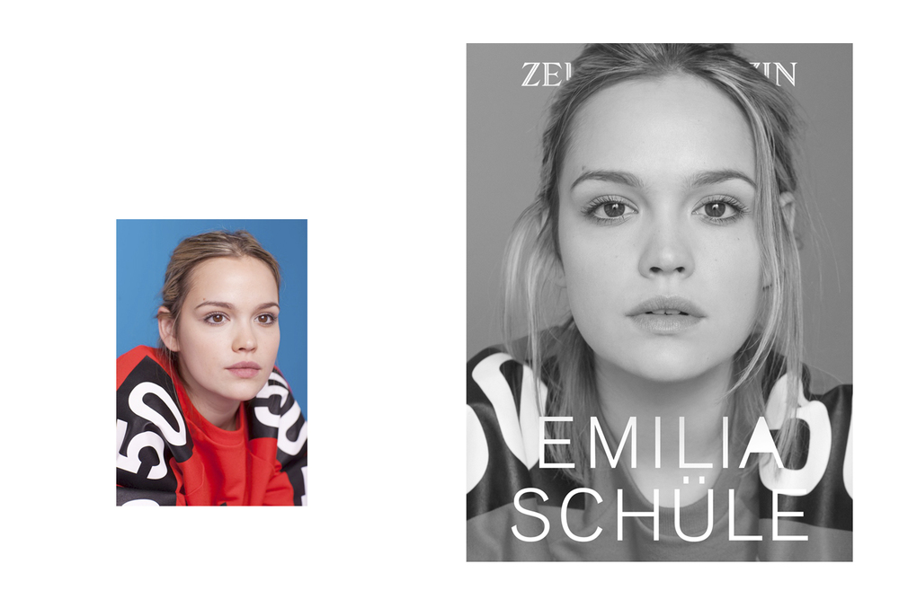 Actress  Emilia Schüle   for  Zeit Magazin    - Berlinale Issue -
