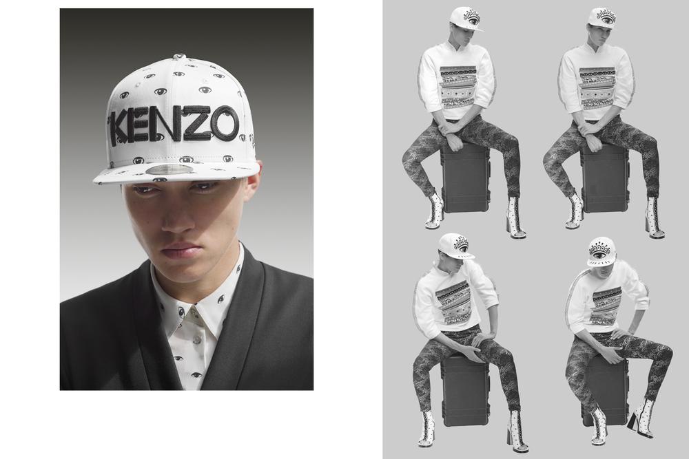 Tamy   for  Kenzo Paris  Kenzo x New Era