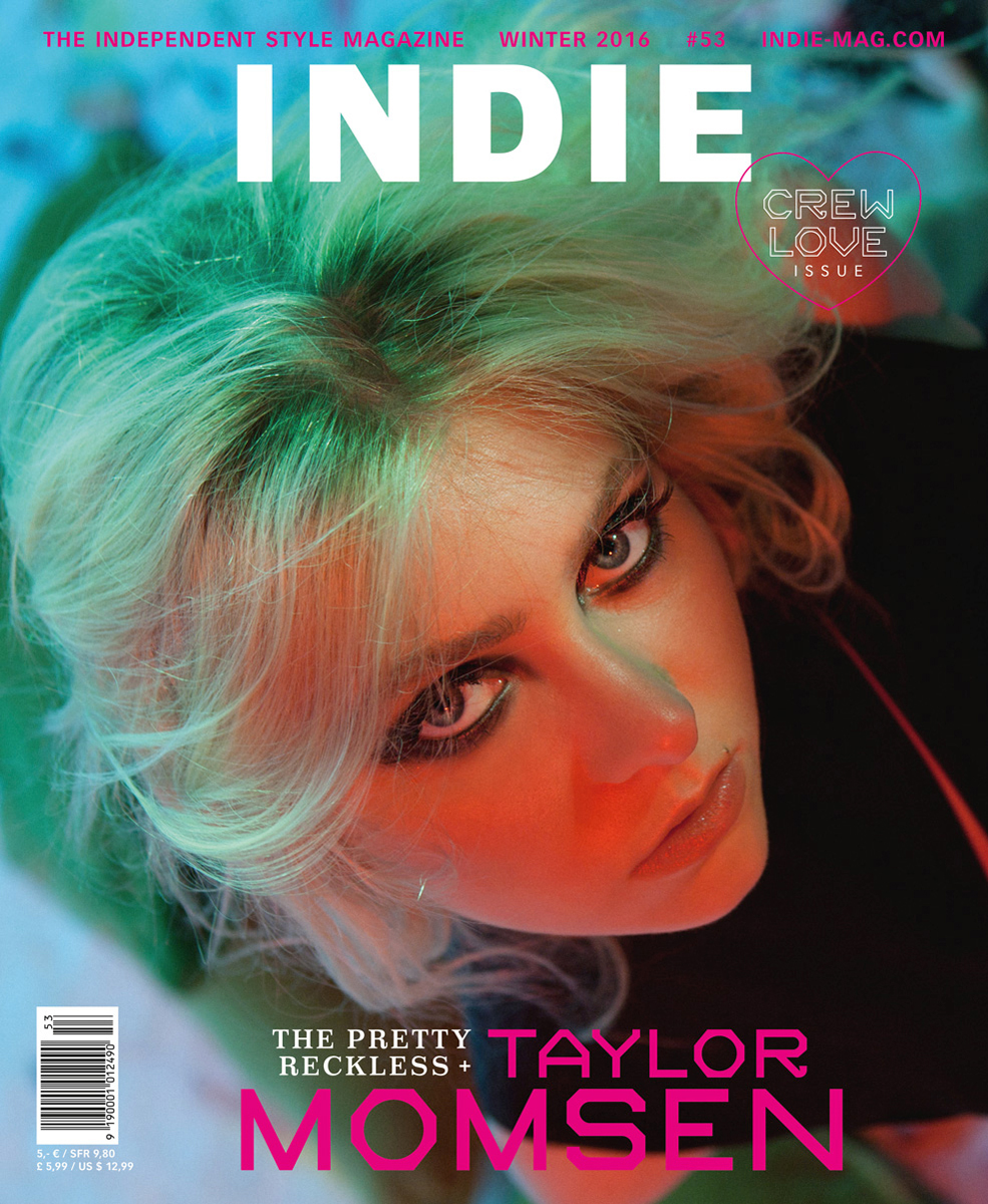 Taylor Momsen   + The Pretty Reckless   for  INDIE Magazine
