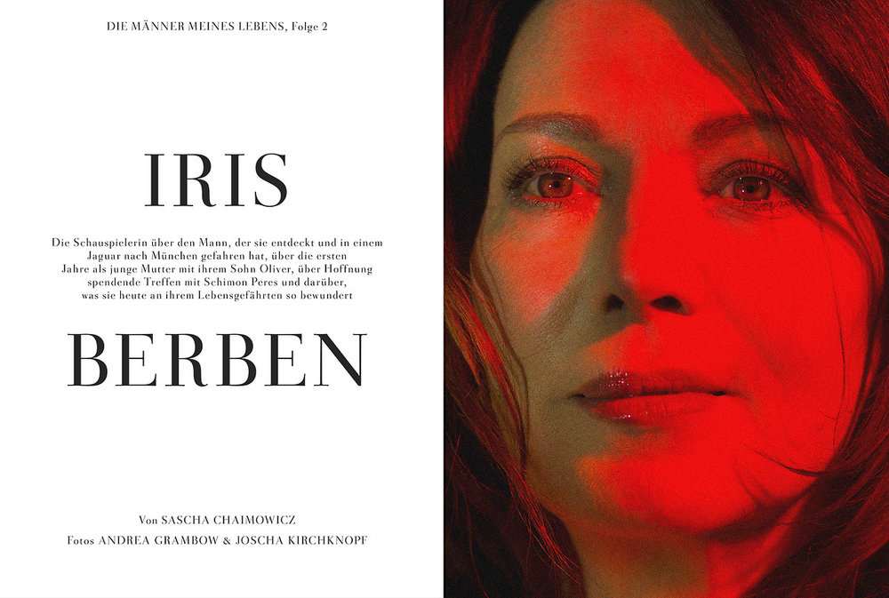 Iris Berben    actress   for  Zeit Magazin Mann