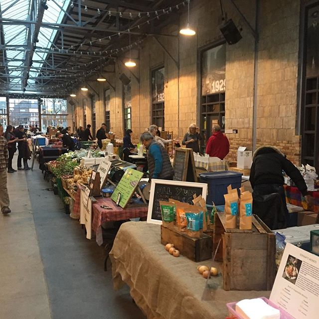 No better way to spend a rainy Saturday than at the @thestopcfc Farmer's Market at @wychwoodbarns So many great vendors! Stop by, we are here until 12:30! . . . #torontofood #farmersmarket #wychwoodbarns #eatlocal #glutenfree #vegan #yyzeats #stclairwest #wychwood #veg