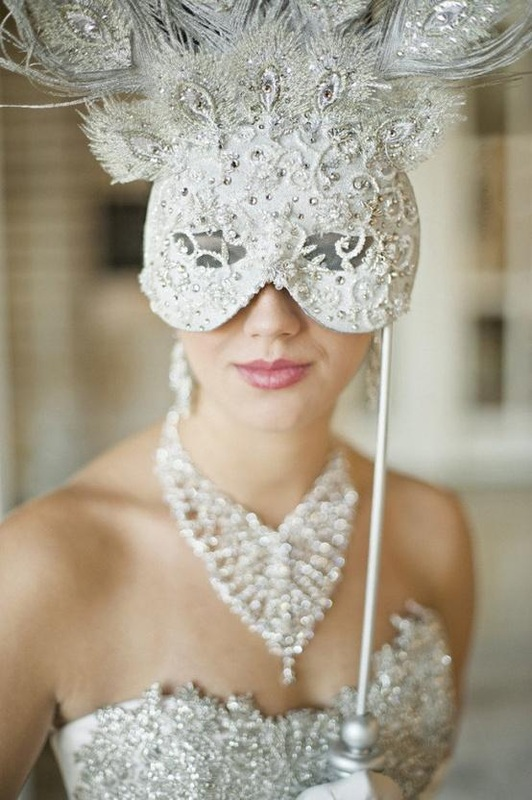 Masquerade Themed Wedding Caribbean Catering