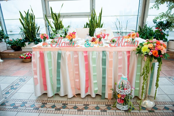 Head Table Idea for Beach wedding