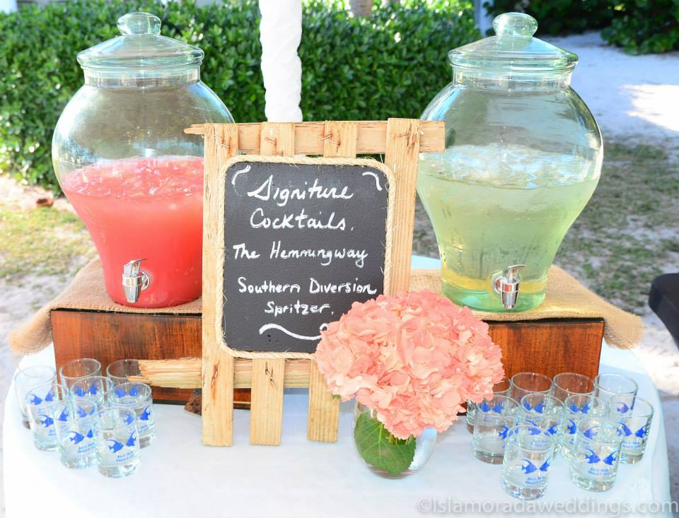 wedding cake signature drink caribbean catering weddings 24541